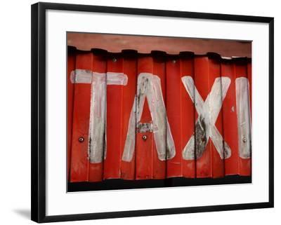 Taxi Sign--Framed Photographic Print
