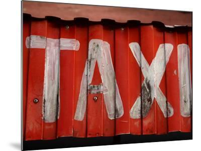 Taxi Sign--Mounted Photographic Print