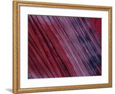 7d7e2b636e6c Close-up of Pleated Red and Purple Tie-Dyed Fabric--Framed Photographic