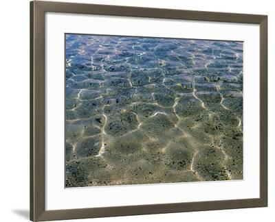 Sparkling Sea Water Over Sandy Beach--Framed Photographic Print