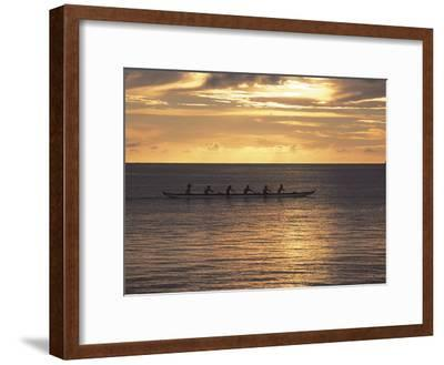 Clouds over the Sea During Sunset--Framed Photographic Print