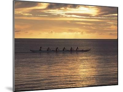 Clouds over the Sea During Sunset--Mounted Photographic Print