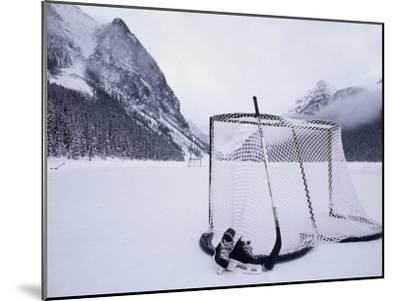 Ice Skating Equipment, Lake Louise, Alberta--Mounted Photographic Print