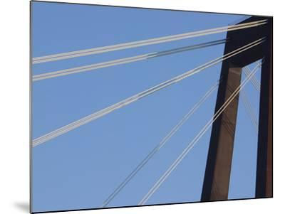 A Tall Suspension Bridge Support with Cables--Mounted Photographic Print