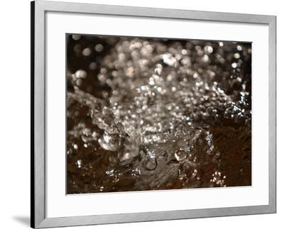 Close-up of Splashing and Sparkling Water--Framed Photographic Print