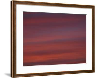 A Deep Red and Purple Sunset--Framed Photographic Print