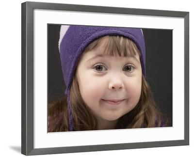 Little Girl in Toque--Framed Photographic Print