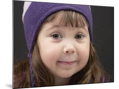 Little Girl in Toque--Mounted Photographic Print