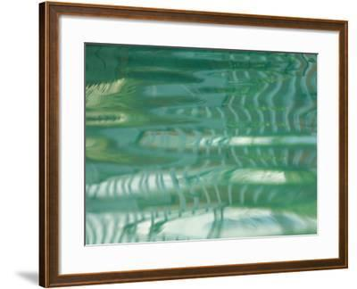 Smooth Green Water Rippling in a Pool--Framed Photographic Print