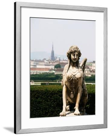 Statue and City View of Beautiful Vienna, Austria--Framed Photographic Print