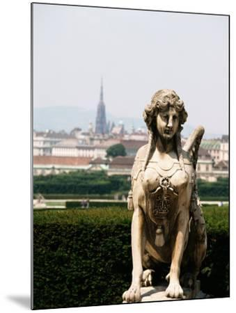 Statue and City View of Beautiful Vienna, Austria--Mounted Photographic Print