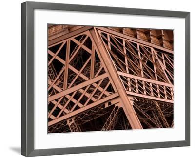 Close-Up of Intricate Details of Architectural Design of Eiffel Tower--Framed Photographic Print