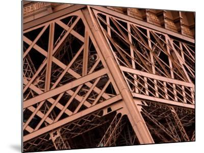 Close-Up of Intricate Details of Architectural Design of Eiffel Tower--Mounted Photographic Print