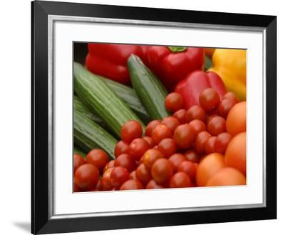 Pile of Delicious and Healthy Vegetables and Fruit--Framed Photographic Print