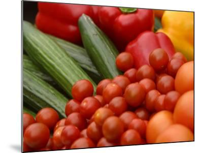 Pile of Delicious and Healthy Vegetables and Fruit--Mounted Photographic Print