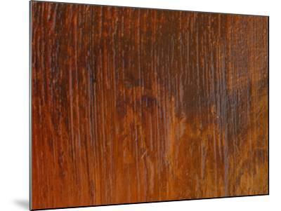 Diagonal Brush Strokes in Orange Paint--Mounted Photographic Print