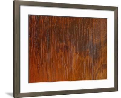 Diagonal Brush Strokes in Orange Paint--Framed Photographic Print