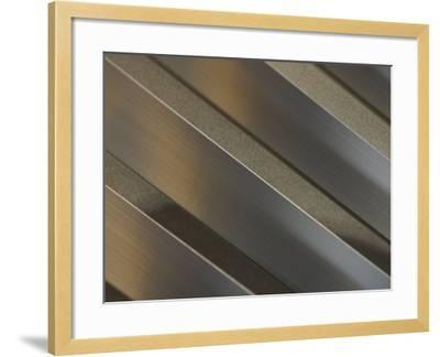 Shiny Corrugated Metal--Framed Photographic Print