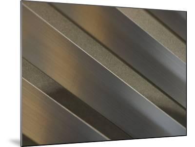 Shiny Corrugated Metal--Mounted Photographic Print