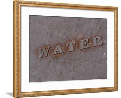 Water Manhole Cover--Framed Photographic Print