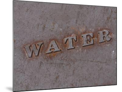 Water Manhole Cover--Mounted Photographic Print