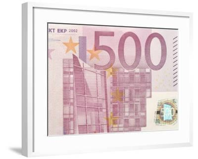 Detail of a Traditional Five Hundred Euro Banknote--Framed Photographic Print