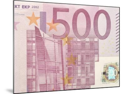 Detail of a Traditional Five Hundred Euro Banknote--Mounted Photographic Print