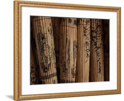 Folded Ornamental Parasols with Painted Patterns, Thailand--Framed Photographic Print
