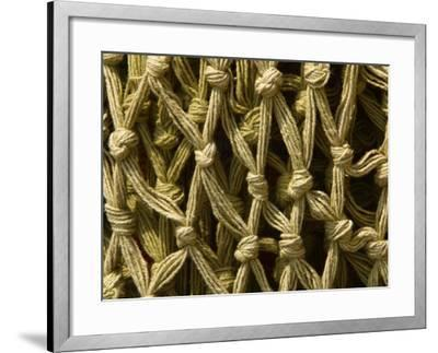 Close-Up of Texture and Rundown Fishing Nets--Framed Photographic Print