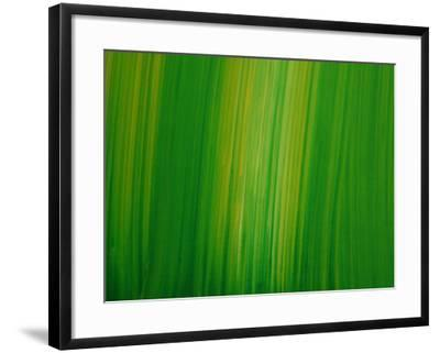 Striated Green Background--Framed Photographic Print