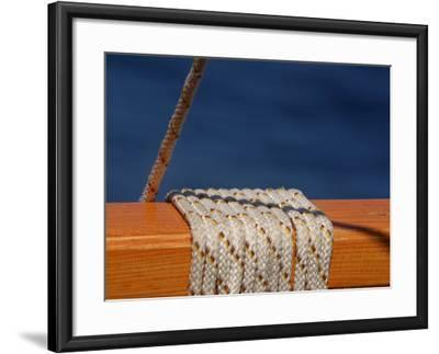 Nautical Rope Wrapped around a Ship's Railing Photographic ...