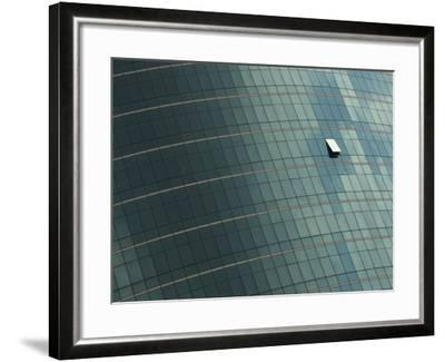 Open Window on the Side of a Modern Glass Building, Asia--Framed Photographic Print