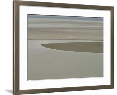 Picturesque Landscape of Placid and Serene Ocean and Beach--Framed Photographic Print