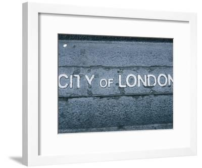 Sign for City of London, England--Framed Photographic Print