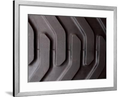 Close-Up of Treads and Grooves of an Industrial Tire--Framed Photographic Print