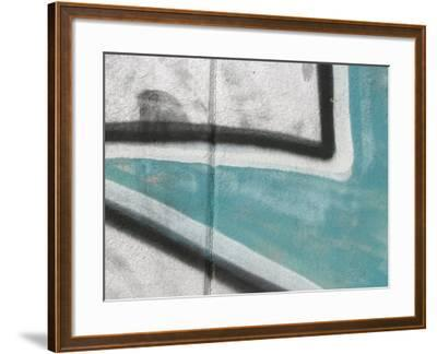 Close Up of Graffiti Mural on Concrete Wall--Framed Photographic Print