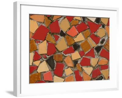 Close-Up of Abstract Red Mosaic Background--Framed Photographic Print