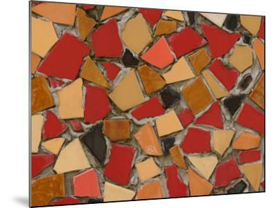 Close-Up of Abstract Red Mosaic Background--Mounted Photographic Print