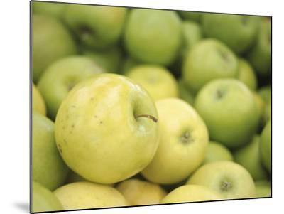 Pile of Fresh and Delicious Green Apples--Mounted Photographic Print