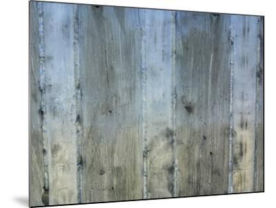 Close-Up of Background of Weathered Steel with Lines--Mounted Photographic Print