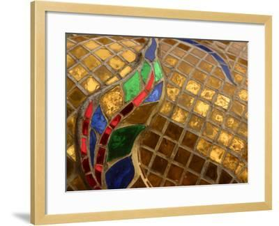Close-Up of a Stained Glass Artwork, Thailand--Framed Photographic Print