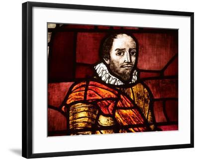 Ornately and Elaborately Decorative Stained Glass Windows of Shakespeare--Framed Photographic Print