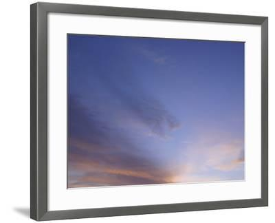Stratus Clouds in Sky at Dusk--Framed Photographic Print