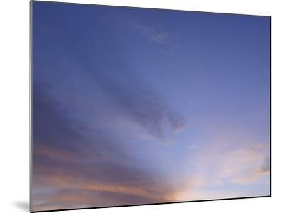 Stratus Clouds in Sky at Dusk--Mounted Photographic Print