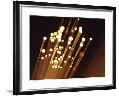 Ends of Fiber Optic Cables with Bright Lights--Framed Photographic Print