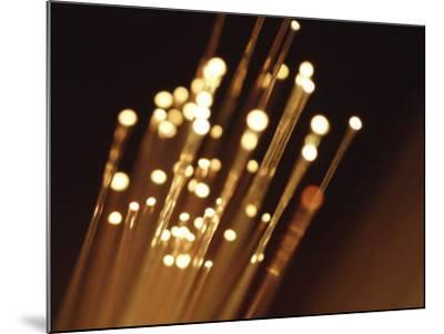 Ends of Fiber Optic Cables with Bright Lights--Mounted Photographic Print