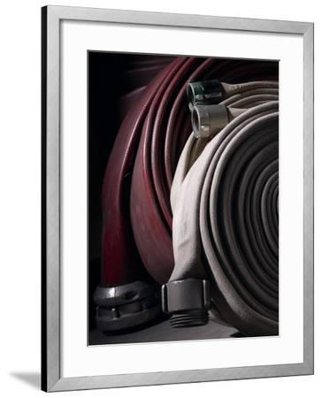 Coiled Fire Hoses--Framed Photographic Print