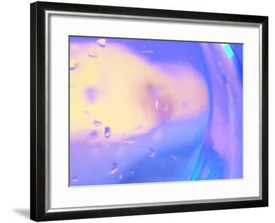 Abstract Close-Up of Water Drops on a Transparent Surface--Framed Photographic Print