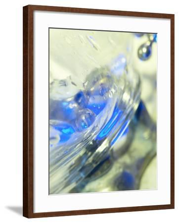 Abstract View of Water Drops on a Transparent Surface--Framed Photographic Print