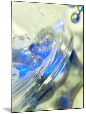 Abstract View of Water Drops on a Transparent Surface--Mounted Photographic Print
